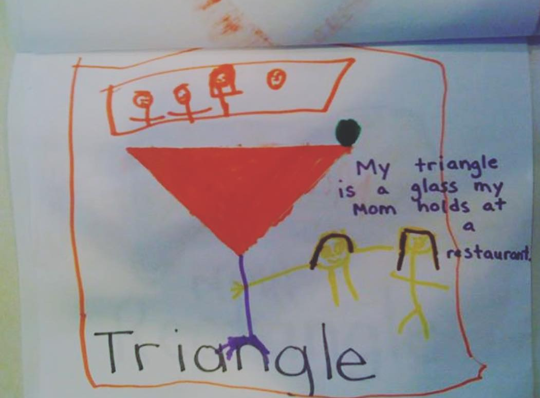 This Kindergartner's assignment on Triangles