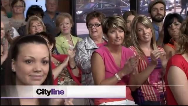 In Canada, we have a show called Cityline, which is mostly attended by middle-aged women. My girlfriend at the time made me go