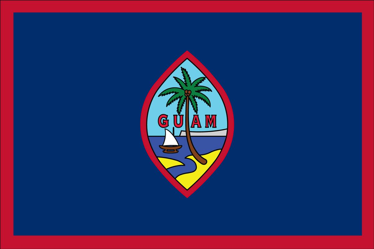 The Guam flag looks like the first thing you see if you are being born in Guam.
