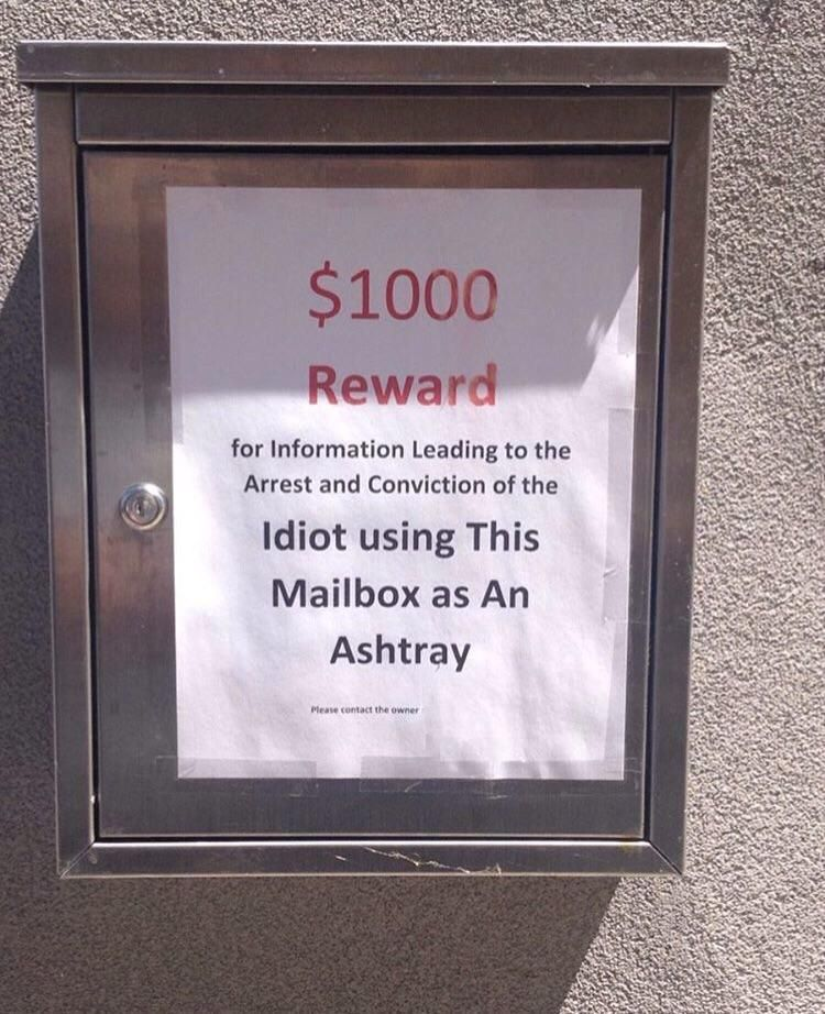 Friend saw this attached to someone's mailbox
