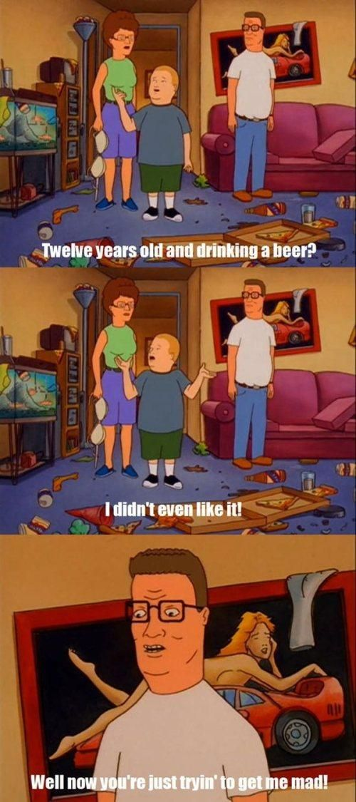 Twelve years old and drinking a beer?