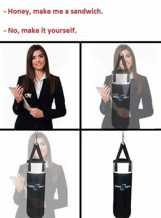 dont worry guys, she only turns into a respect bag