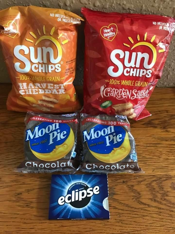 Snacks for the eclipse.