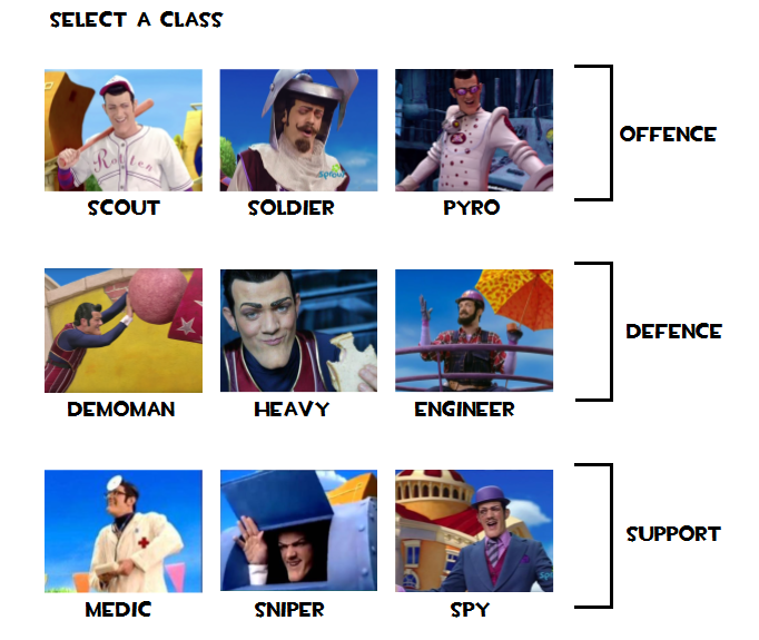 select a class