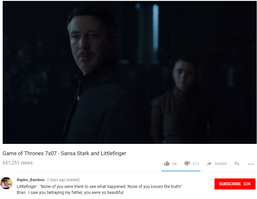 Littlefinger can't fast travel to the Eyrie - Enemies are nearby