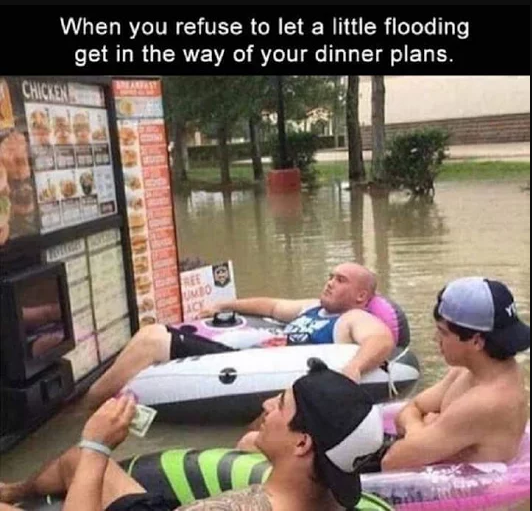 Little flooding dinner plans