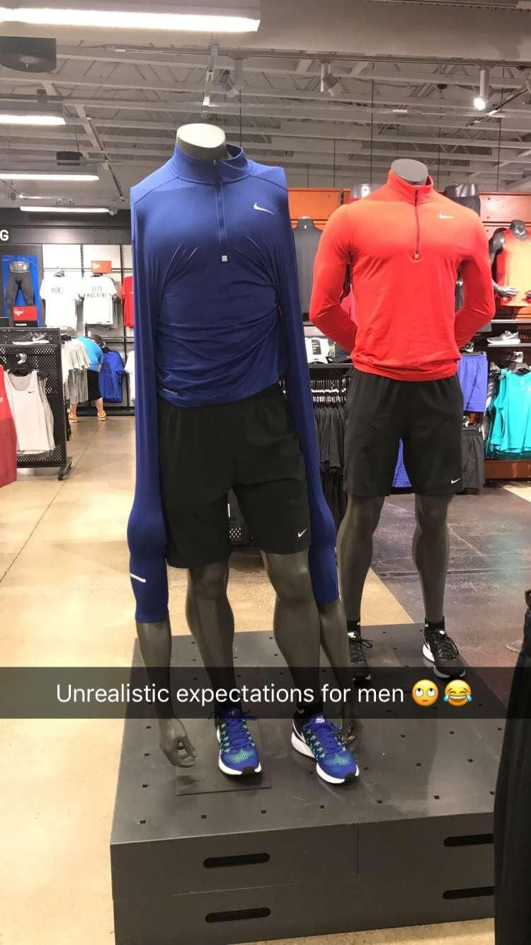 Talk about unrealistic expectations for women, what about the men?
