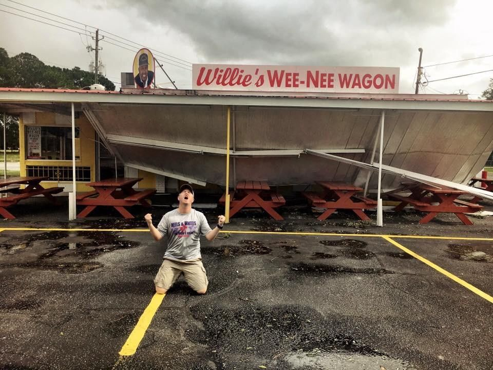 Our beloved hotdog stand got damaged during hurricane Irma