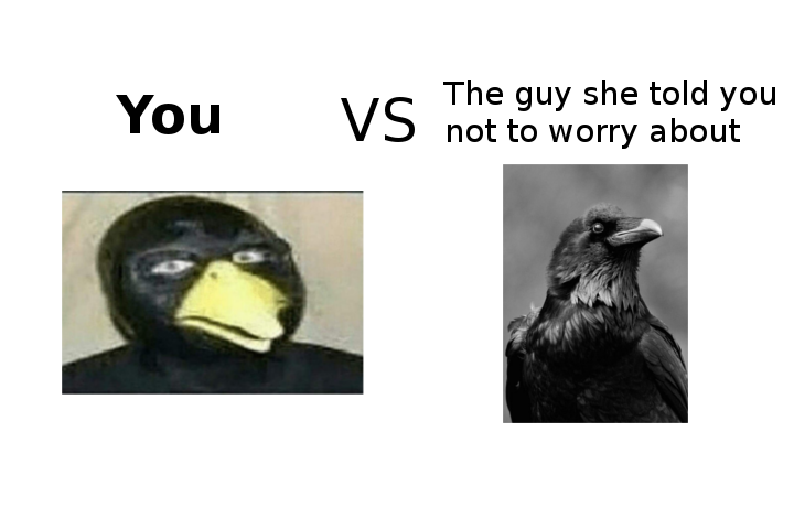 Real ravens have legs