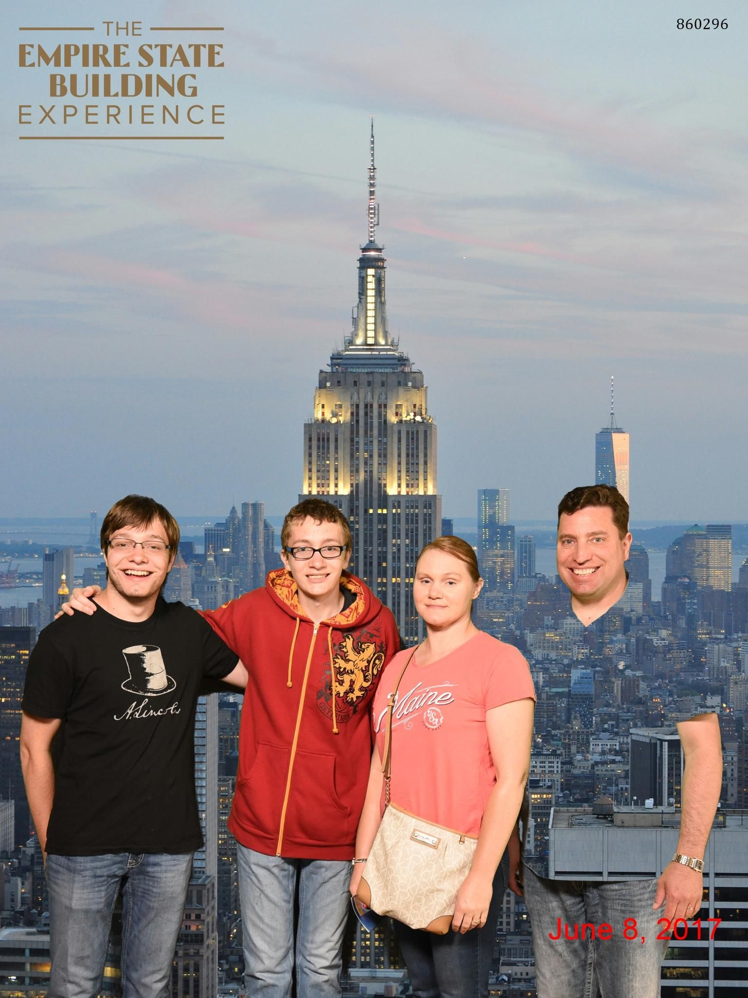 So my dad wore a green shirt to the Empire State Building tour...