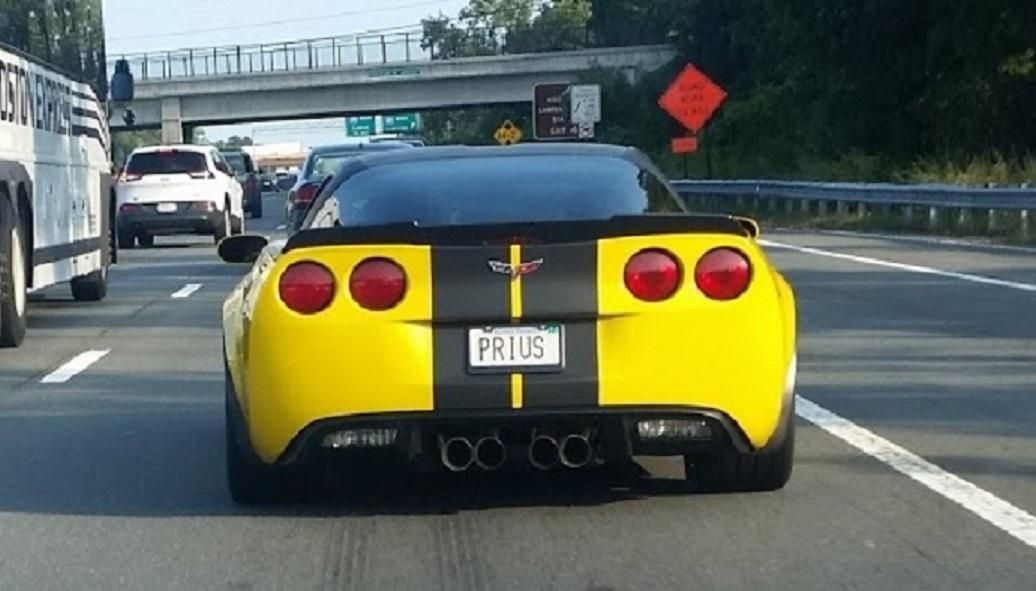 """My girlfriend saw this """"Prius"""" on her commute yesterday."""