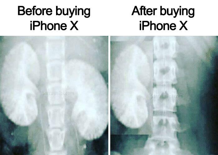 iPhone X...
