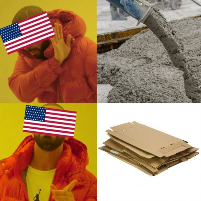 When Americans build their house