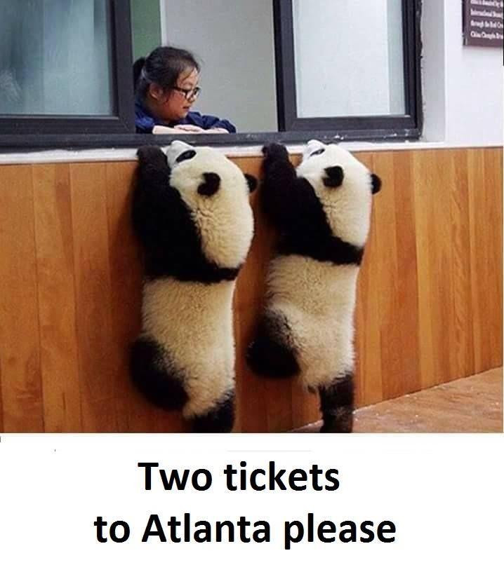 Two tickets to Atlanta please :v