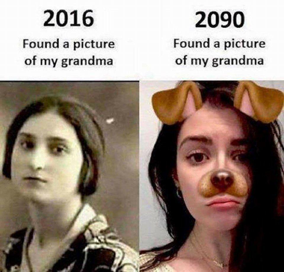 Grandma 2016 vs 2090