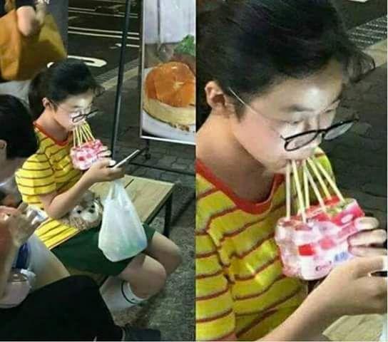 This girl wins at life.