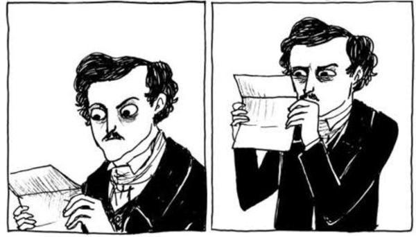 Edgar Allan Poe opening HL like: