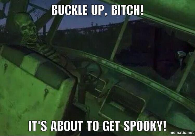 So the spooky month is beginning