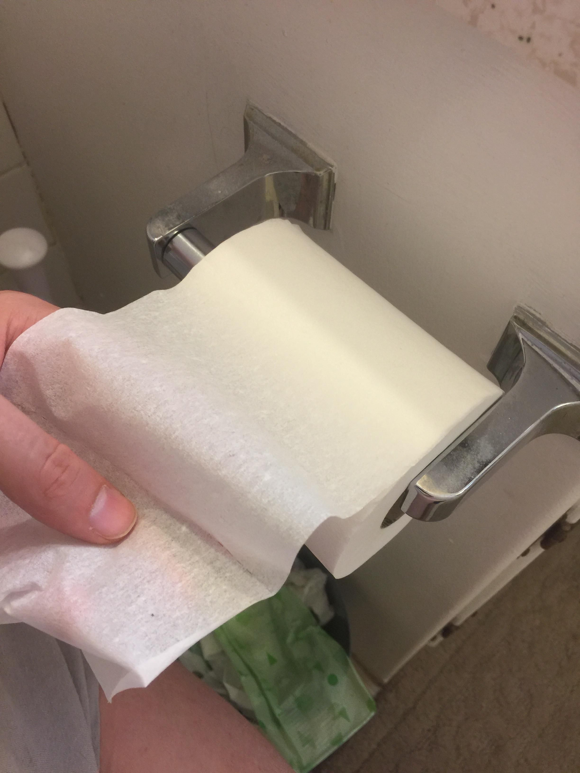 My wife bought toilet paper for the first time...one ply...I live ...