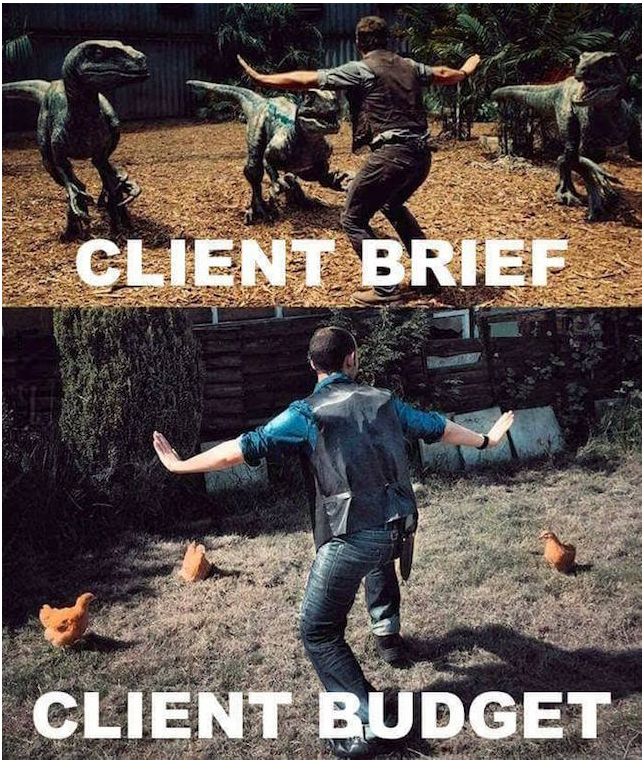 Client brief vs client budget