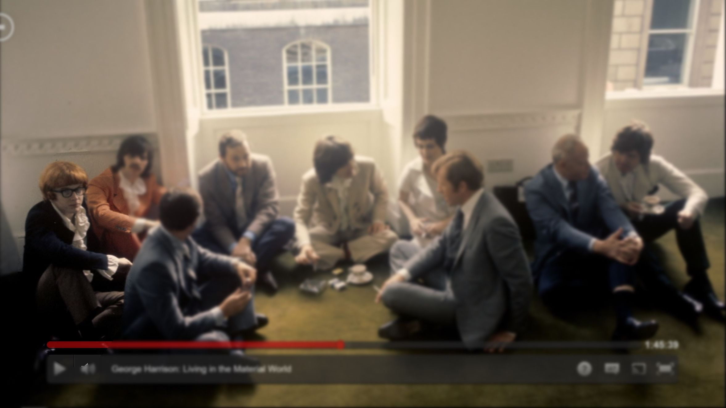 Did a double take while watching the George Harrison documentary on Netflix - pretty sure that is the International Man of Mystery sitting right there next to Ringo...