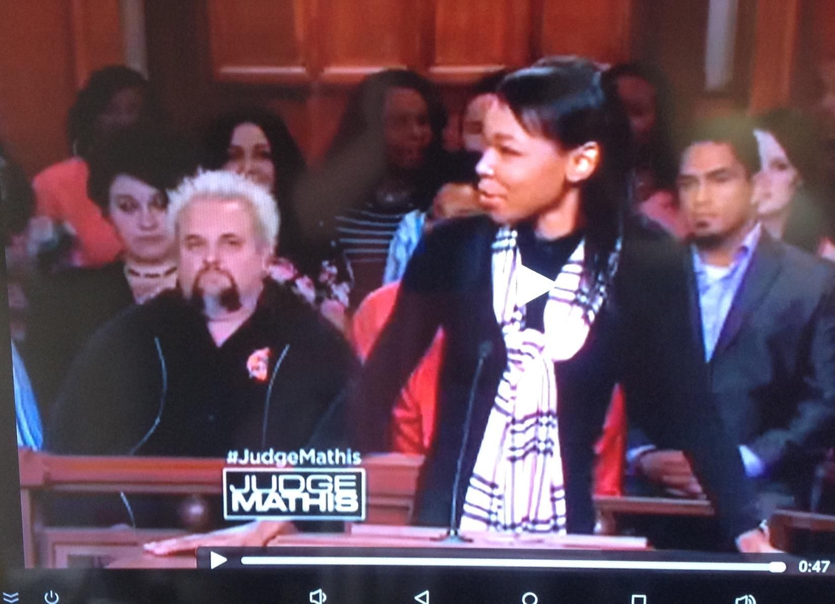 Looks like Guy Fierie likes hanging out at the Judge Mathis show on his down time.