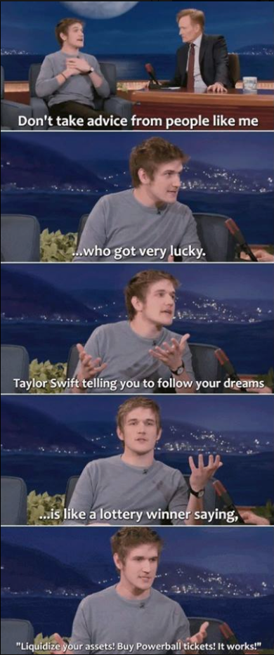 Bo Burnham on taking advice from celebrities