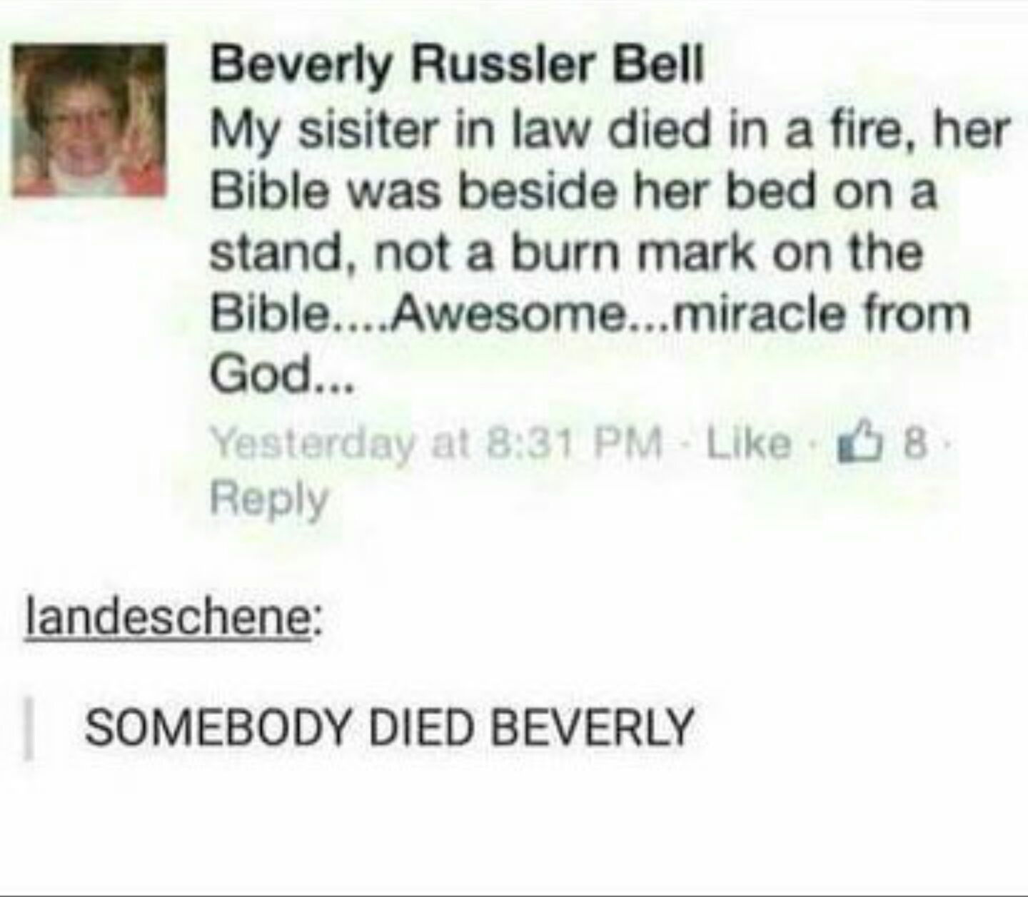Awesome...miracle