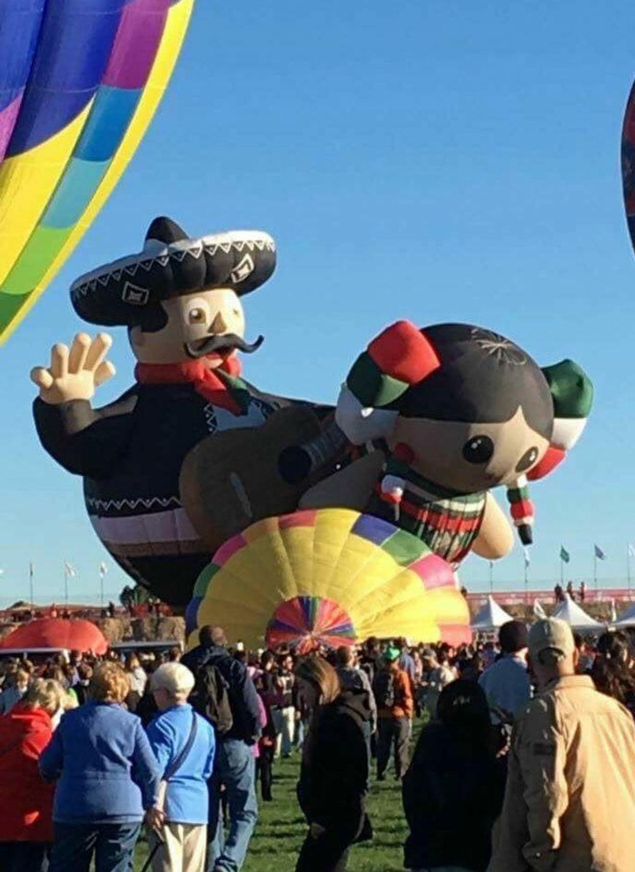 That's one way to get the Balloon Fiesta started