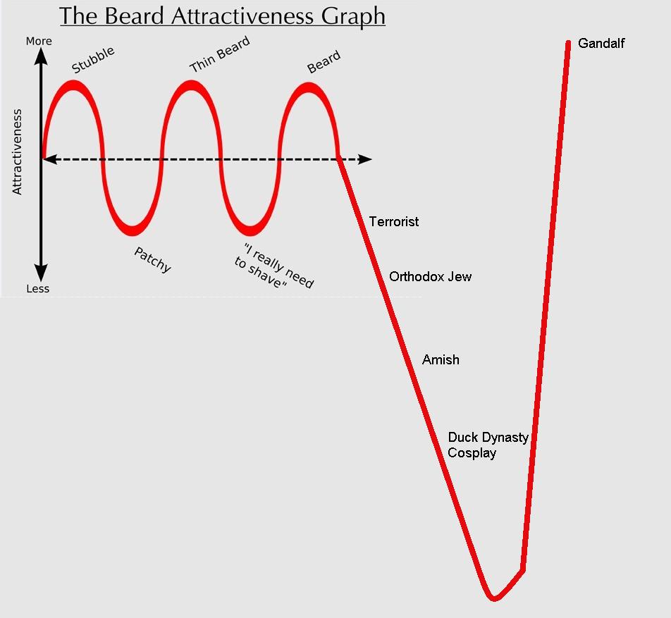 Beard Attractiveness Graph.