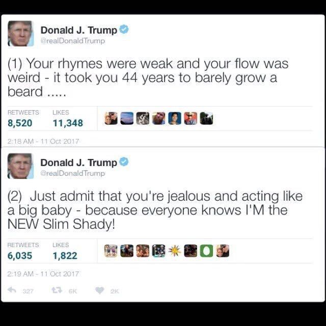 Potus spits fire