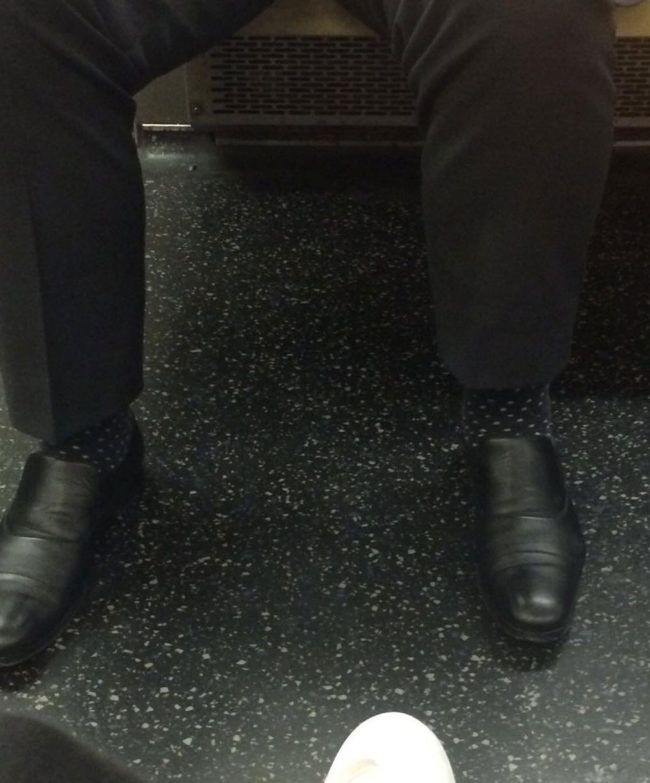 Invisible man spotted on the metro!
