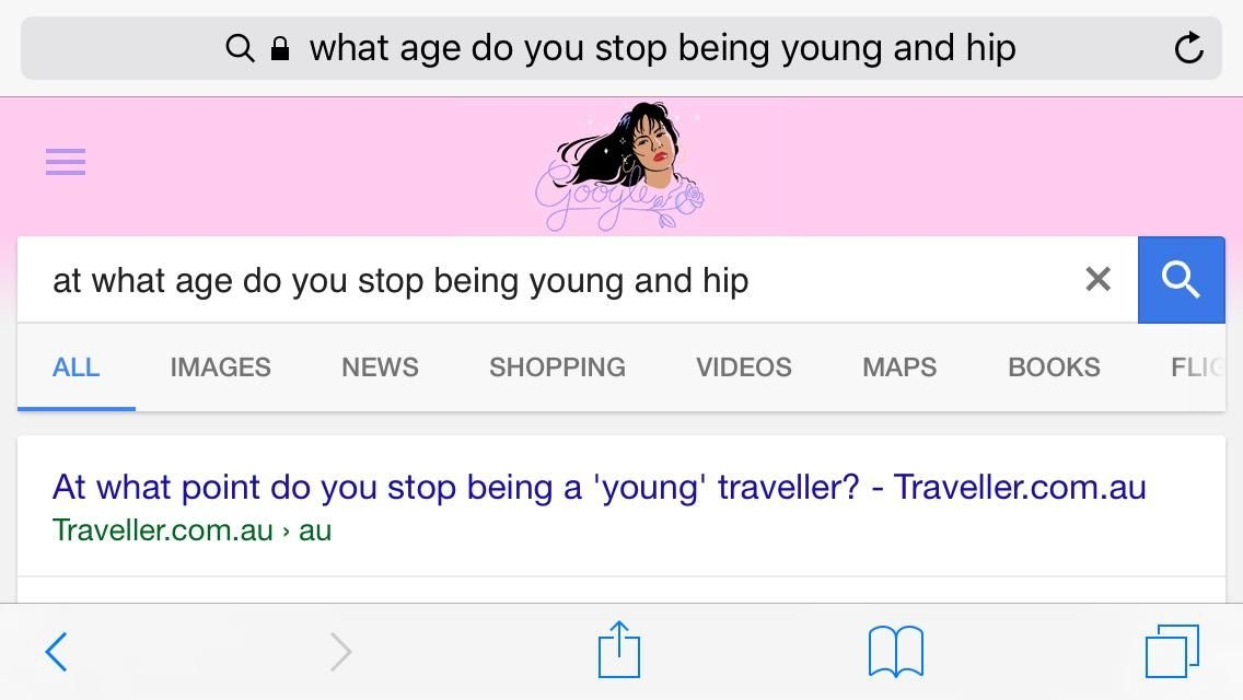"""I thought to myself I'm turning 27 in January and I should google when I'd stop being young and hip. Then it hit me that it's probably when you start googling """"young and hip."""""""