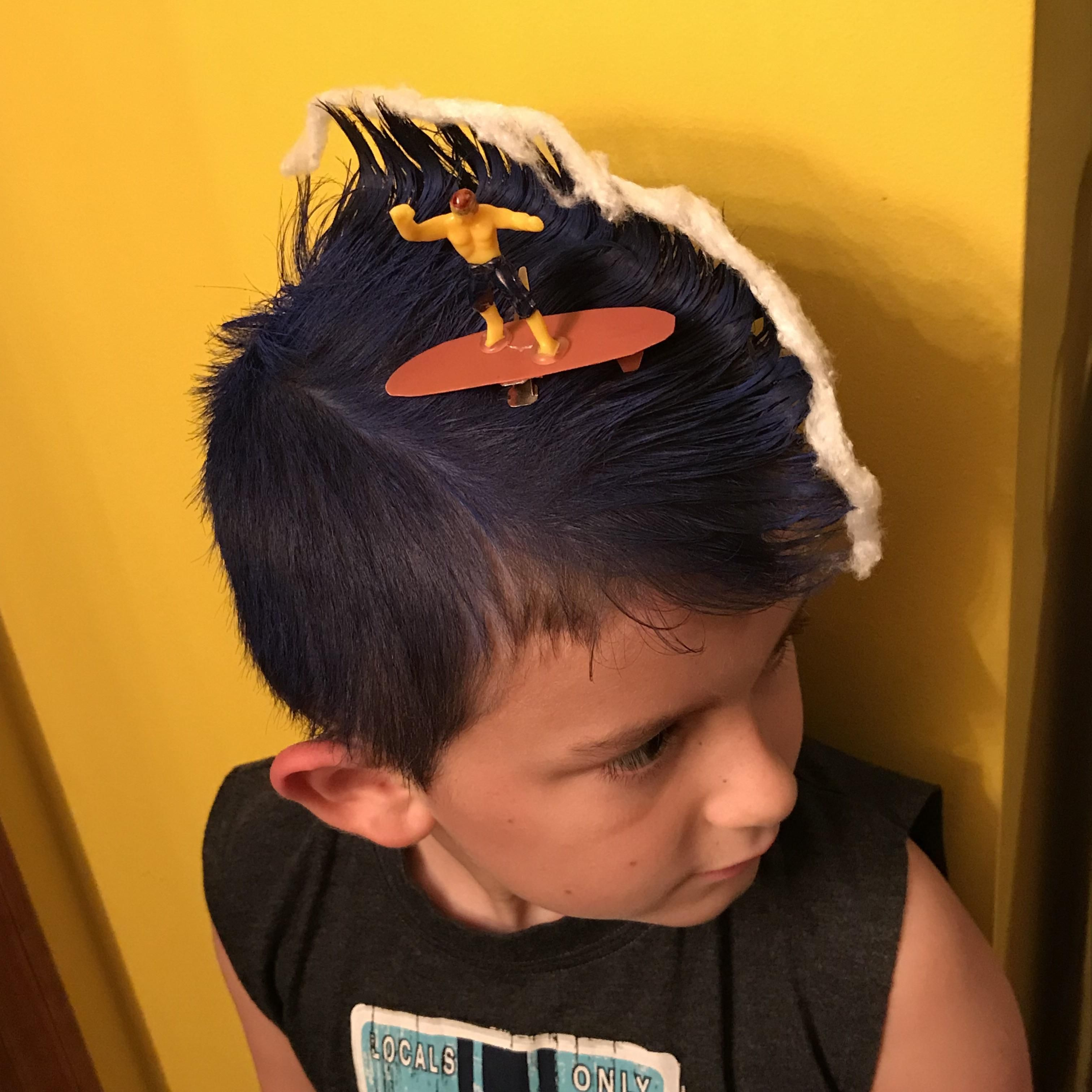 My son's hair for Crazy Hair day at school.
