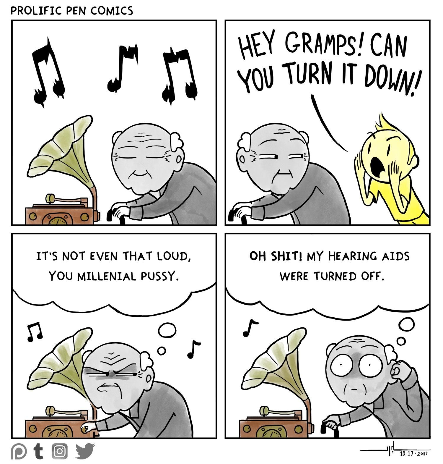 old ears and phonographs
