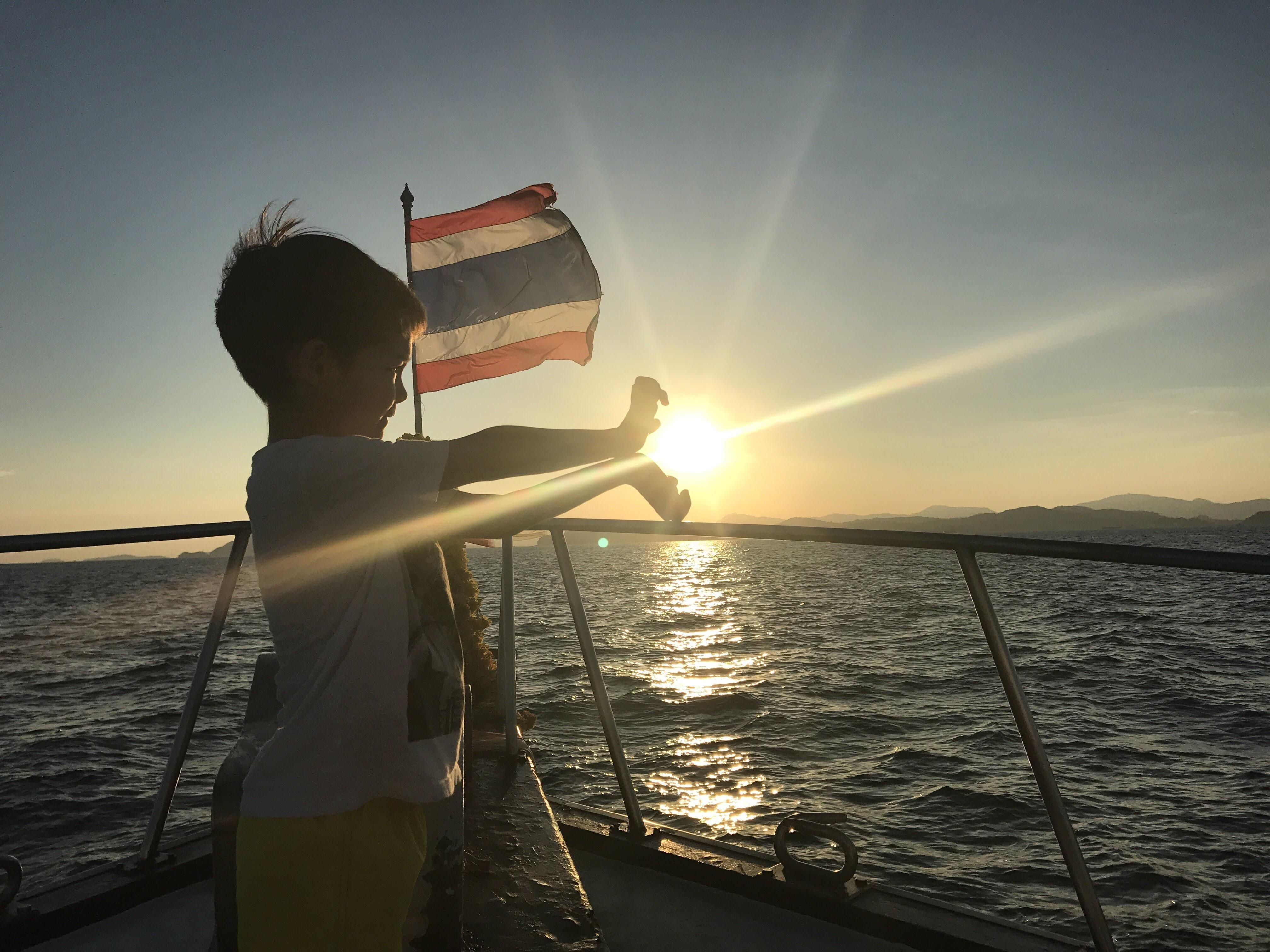 My kid perfecting his Kamehameha!