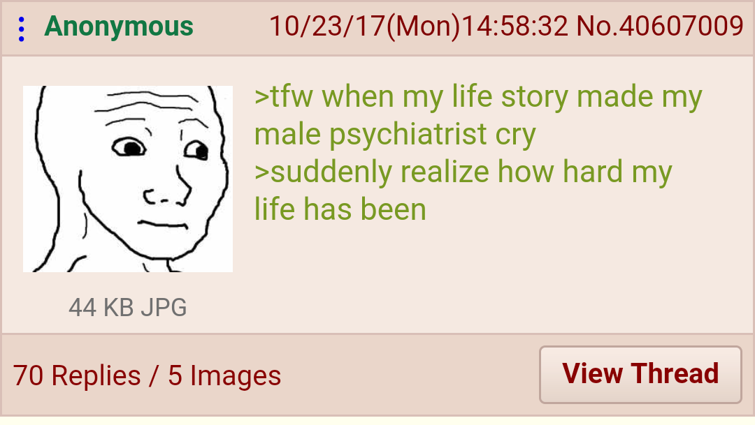Anon has a realization