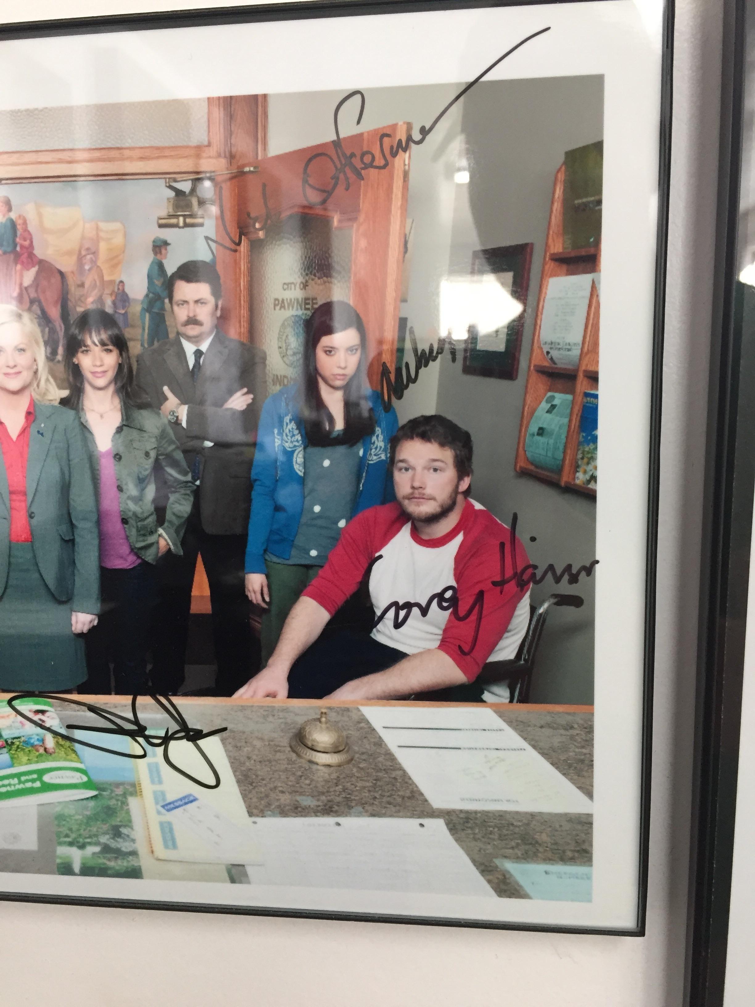 Chris Pratt signed this autograph as Corey Haim.
