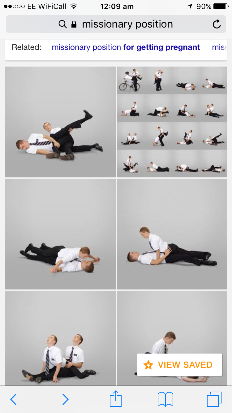 People in the missionary position