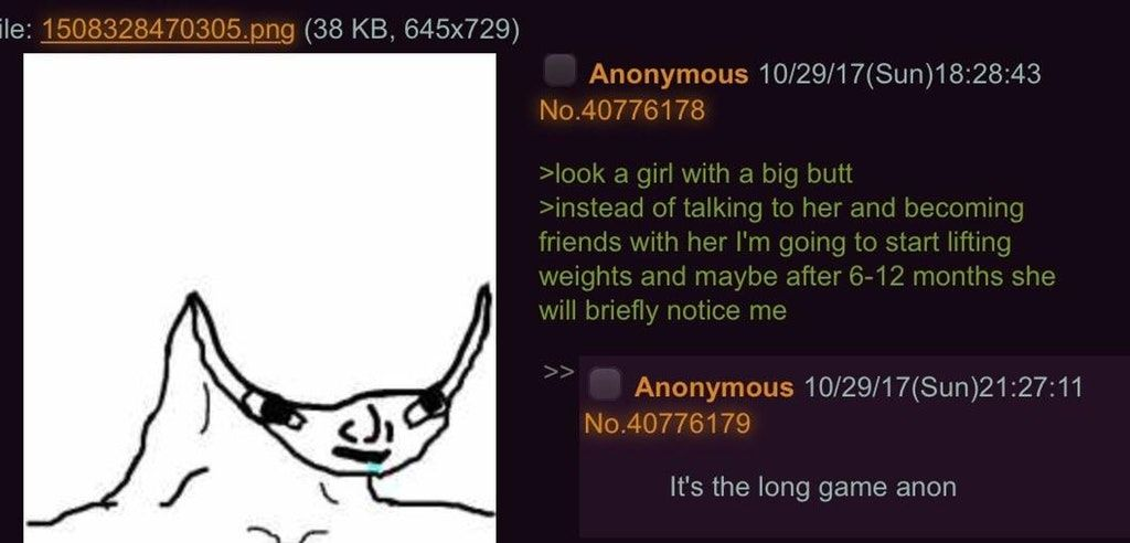 Anon plays the long game