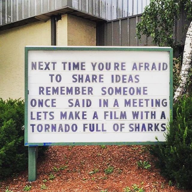 Don't be afraid to share your ideas...