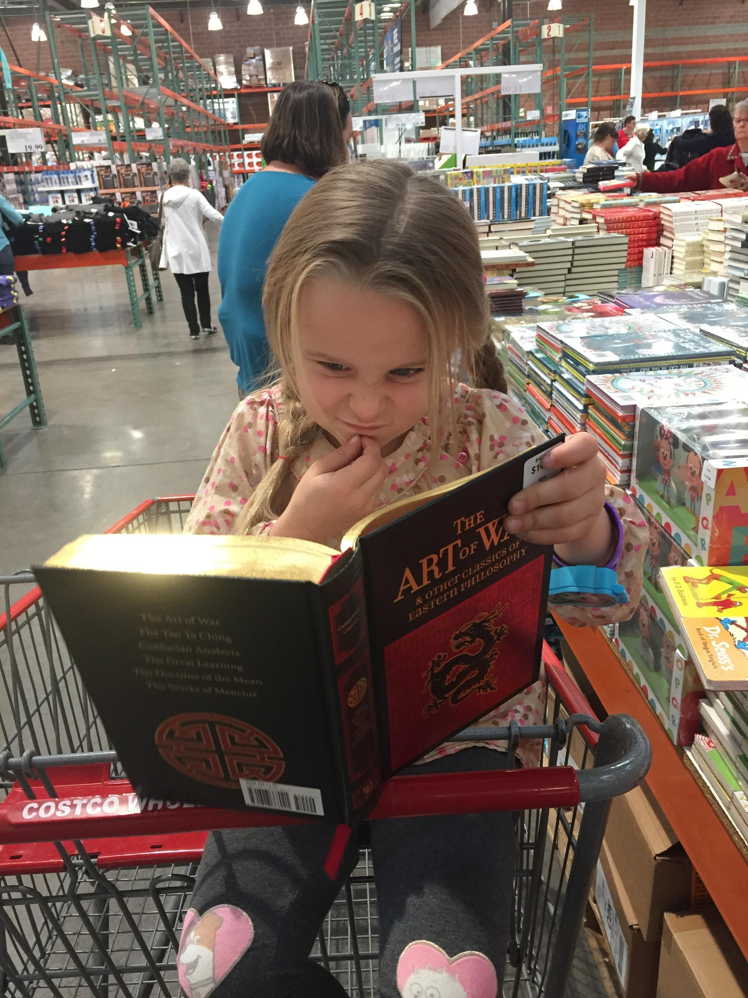 """I asked """"What book do you want?"""" She said """"Get me the one with the dragon on it!"""""""