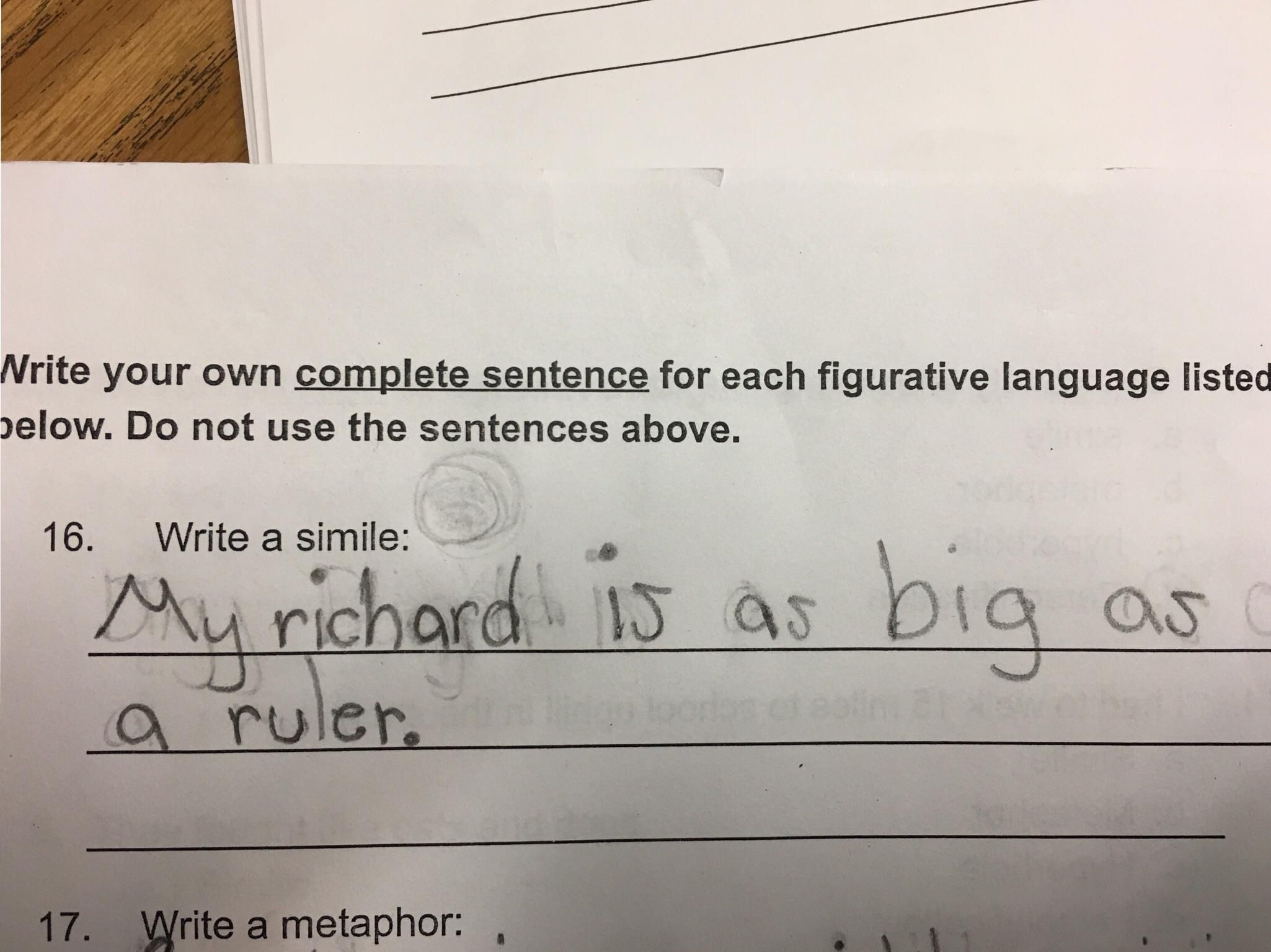 As a teacher, I'm furious. As a human, I can't stop laughing on the inside.