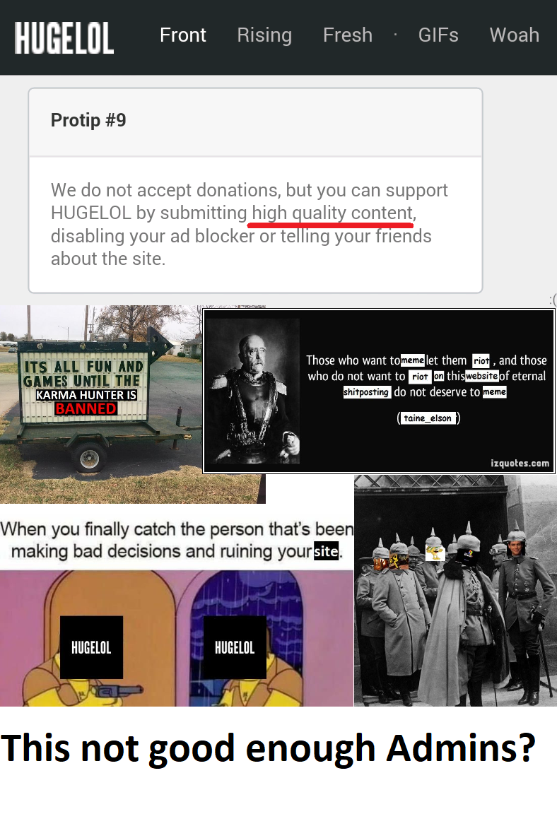 """Do Not Accept Donations"" ... who Remembers Hugelol Gold?"