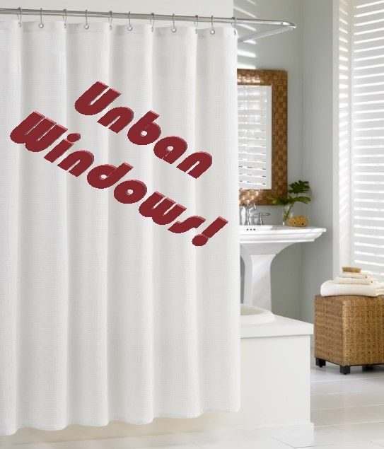 My wife also let me choose the shower curtains!