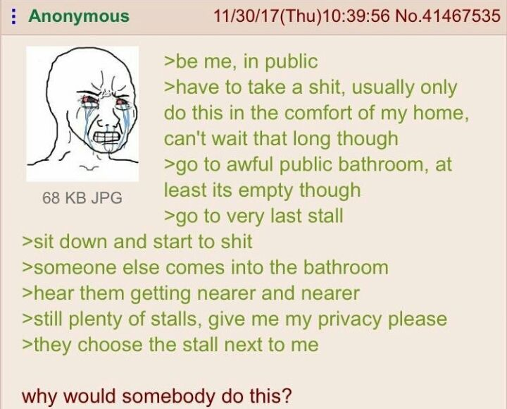 Anon and the public stall