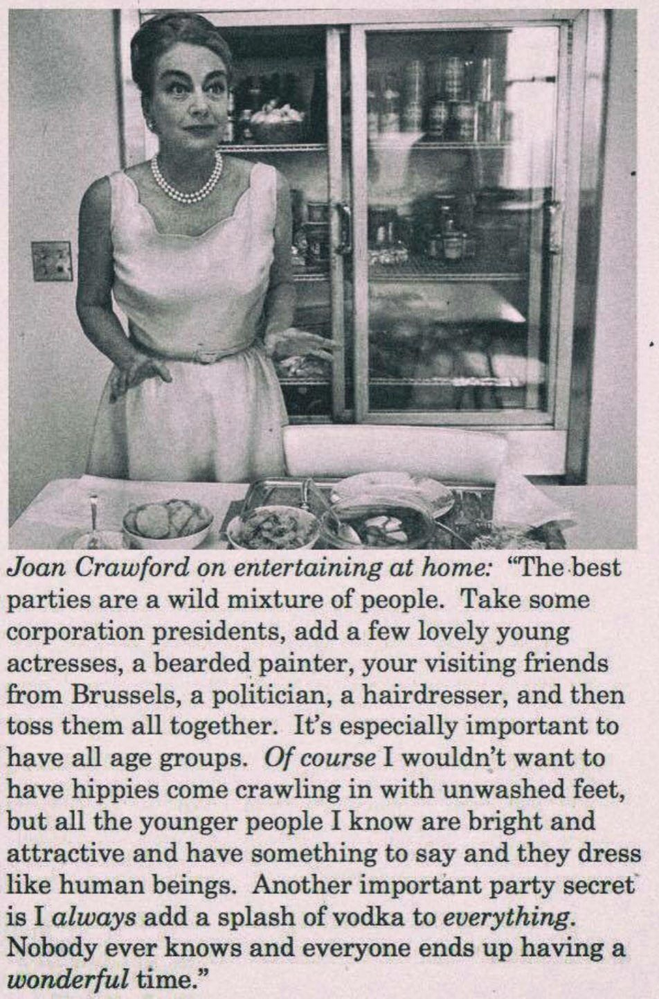 Joan Crawford's rules for throwing a party still hold up today