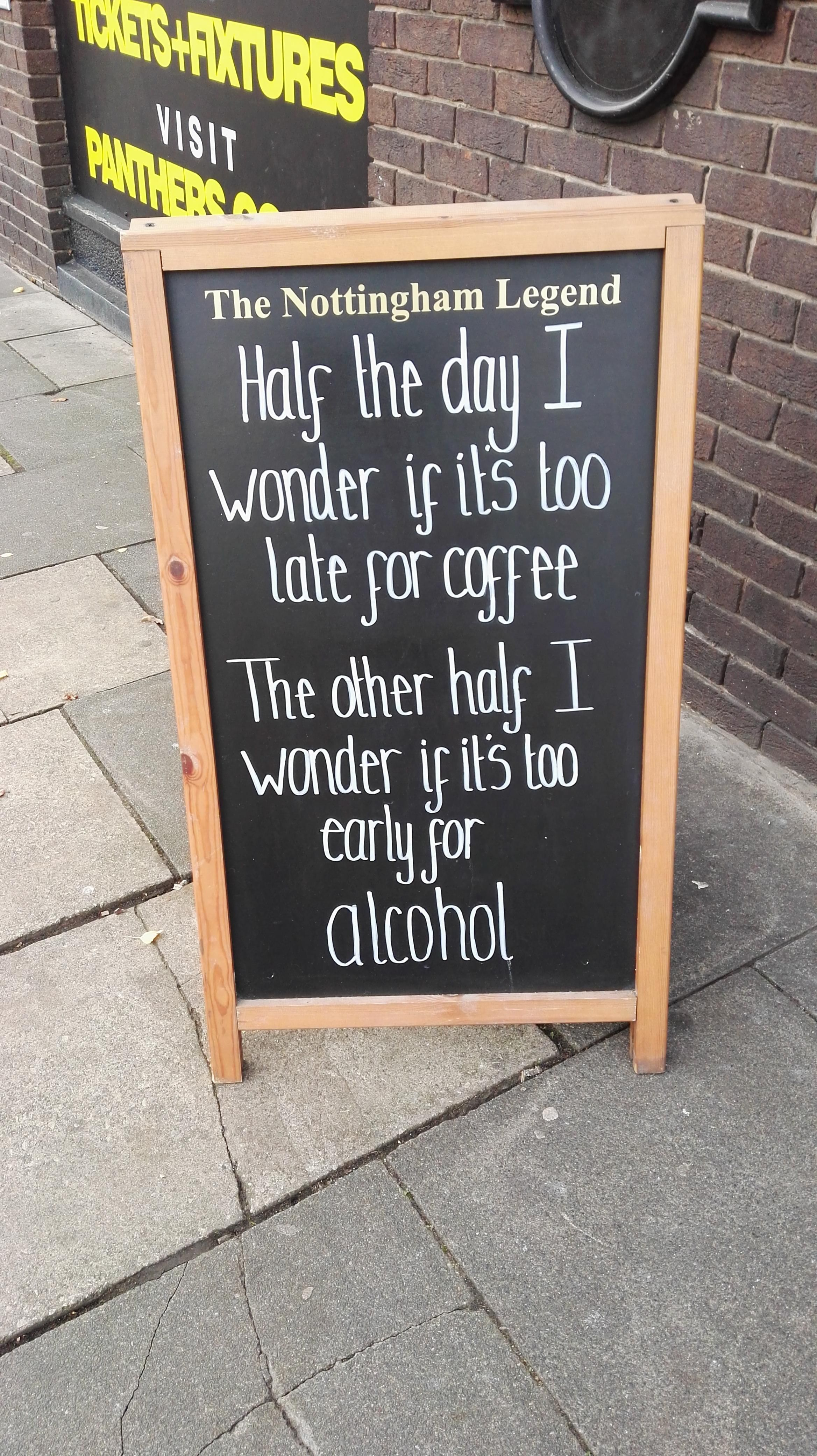 It's always time for alcohol...