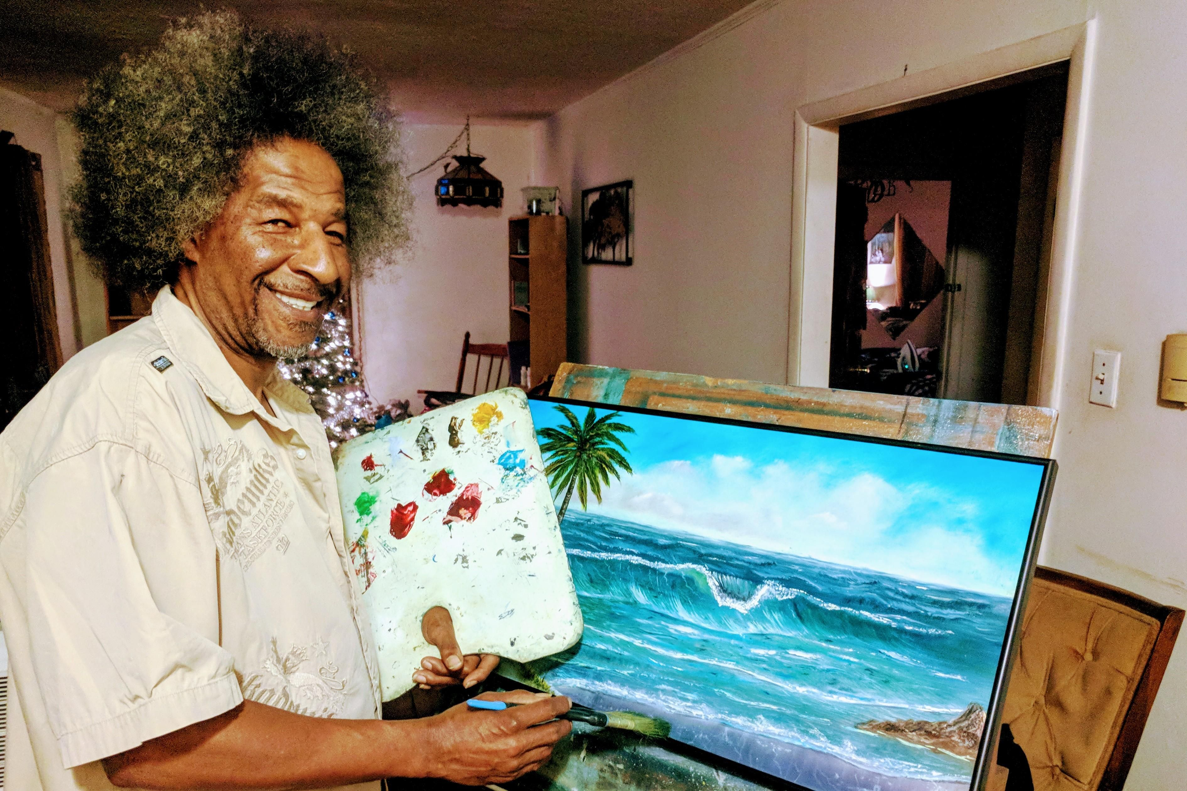 My father is the Black Bob Ross