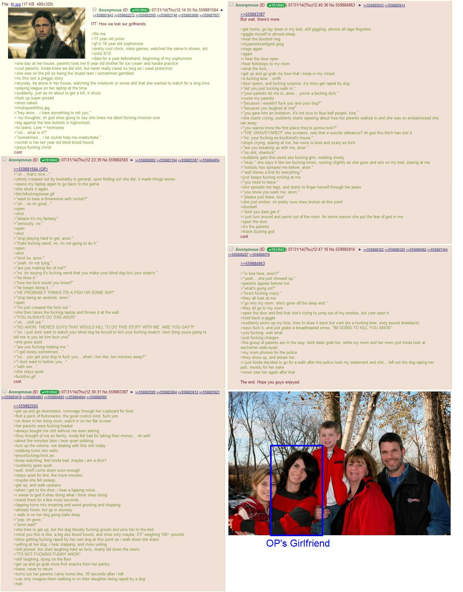 Anon and beastiality